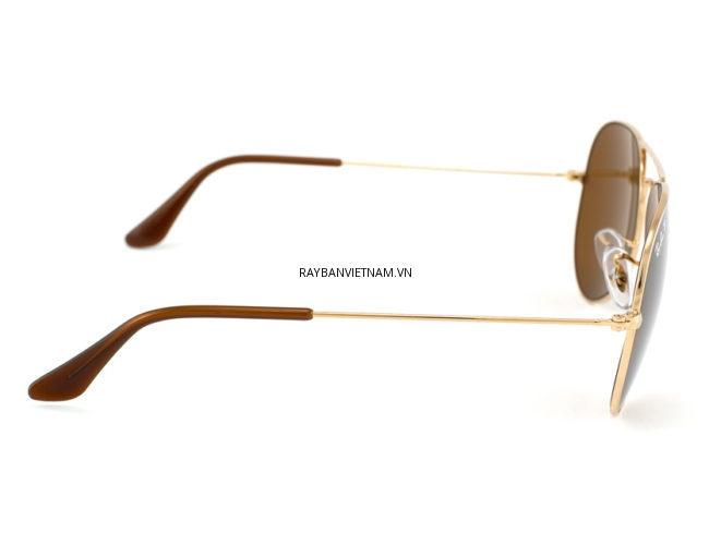 kính RayBan Aviator RB3025-001/57 tròng nâu polarized
