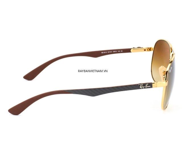 kính rayban aviator carbon fibre RB8313 001/51