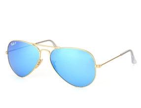 Kính Ray-Ban Aviator RB3025-112/4L Polarized tráng gương xanh
