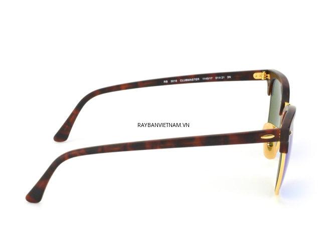 Kính Ray-Ban Clubmaster RB3016-1145/17 xanh tráng gương