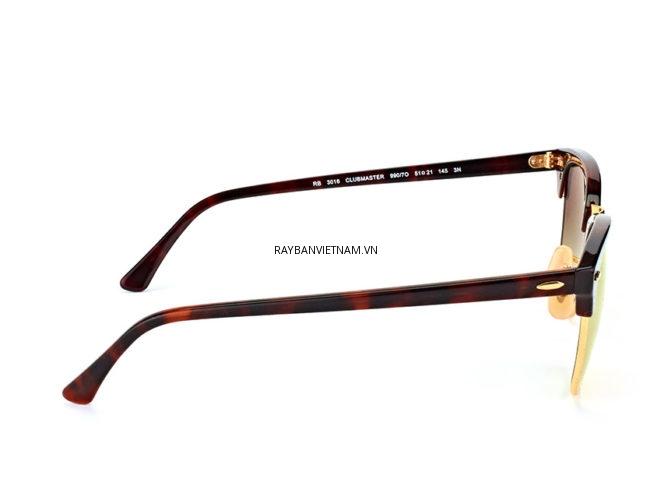 Kính Ray-Ban Clubmaster RB3016-990/7O vàng chuyển màu