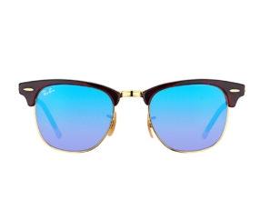 Kính Ray-Ban Clubmaster RB3016-990/7Q xanh tráng gương chuyển màu