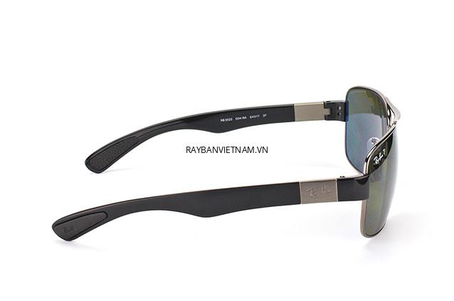 Kính Ray-Ban RB3522-004/9A tròng xanh Polarized