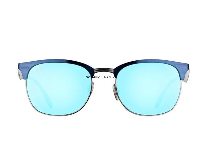 Kính Ray-Ban Clubmaster RB3538-189/55 tròng xám tráng gương xanh