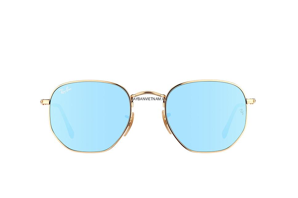 Kính Ray-Ban Round RB3548N-001/9O tròng tráng gương xanh dương