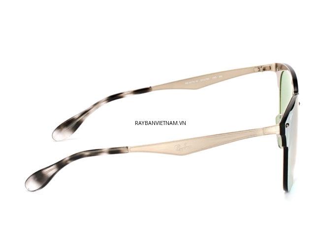 Kính Ray-Ban Clubmaster Blaze RB3576-042/30 tráng gương bạc