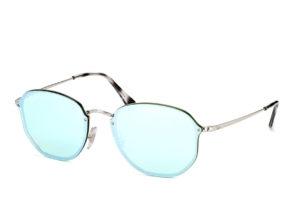 Kính Ray-Ban Round RB3579N-003/30 tráng gương xanh
