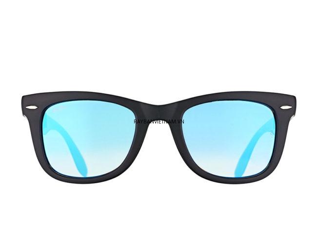 Kính Ray-Ban Folding Wayfarer RB4105-6069/4O tráng gương xanh dương