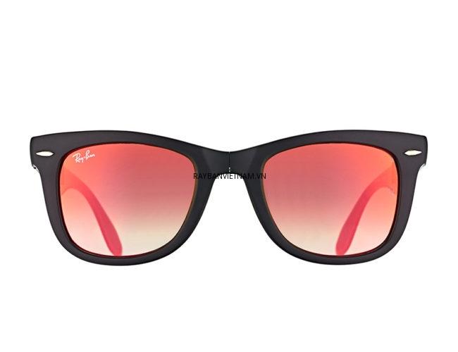 Kính Ray-Ban Folding Wayfarer RB4105-6069-4W tráng gương đỏ